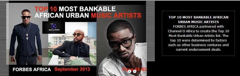 Forbes Africa Bankable artists